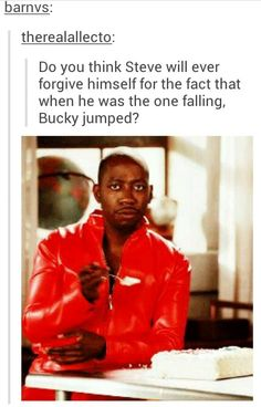 Tbh though, when Steve was falling there was water underneath and when Bucky was falling Steve had people he needed to come back to. Bucky had a torture chamber. Marvel Jokes, Marvel Funny, Marvel Avengers, Marvel Comics, Baby Marvel, Bucky And Steve, Stucky, Bucky Barnes, Steve Rogers