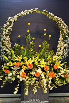 Altar Flowers, Beautiful Bouquet Of Flowers, Church Flowers, Funeral Flowers, Creative Flower Arrangements, Church Flower Arrangements, Wedding Arrangements, Floral Arrangements, Happy Birthday Flowers Wishes