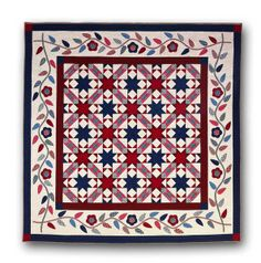 Glory Days quilt pattern and kit in red, white and blue by Nancy Rink at Nancy Rink Designs