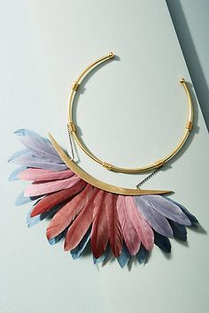 Katerina Psoma Artemis Feather Collar Necklace