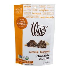 Theo Chocolate Clusters Coconut Turmeric, 2.8 OZ