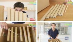 cardboard tube xylophone!