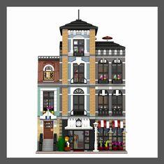 Lego Modular, Lego Skyscraper, Lego Architecture, Lego Building, Everyday Objects, Lego City, Legos, Holiday Decor, Projects