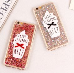 Bling Paillette Sequin Ice Cream Case Cover For Apple iPhone 6 6S Case Soft TPU Crystal Case For iPhone 6 plus For Girls