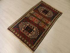 """Vinatge Turkish Decorative Kilim Rug 1'9"""" x 3'1"""" Anatolian Village Kilim Wool on Wool Turkish Bohemian Kilim Rug Decorative Rug"""