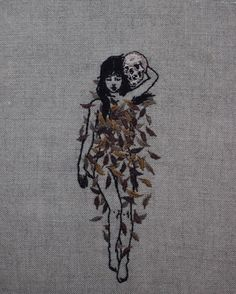 Pre-Winter lookbook. Hand embroidery on natural linen.