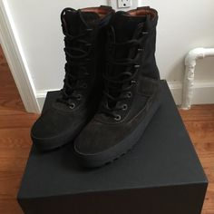 2684a5764bc Shop Women s Yeezy Brown size 9 Combat   Moto Boots at a discounted price  at Poshmark. Description  Brand new in box with dust bags.