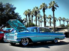 Chevy by the sea. :) 1959 Chevy Impala