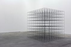 """Barbed wire """"Grid upon Grid"""" by Mona Hatoum 2008"""