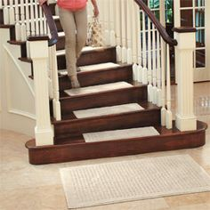 Carpet Stair Treads Protect Wooden Stairs From Wear With Machine Washable Stair  Treads