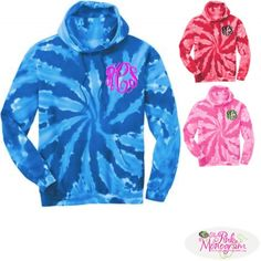This throwback look is colorful and comfortable Our sweatshirts are created with a larger prepared for dye blank and sewn with dyeable 100% cotton thread  www.thepinkmonogram.com