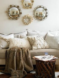 love the textures and comfy look.