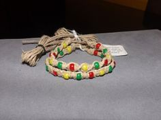Custom Size Rastafarian Hemp Bracelet by OriginalAccents on Etsy, $6.00. See more great products here: https://www.etsy.com/pages/etsianswithclassteam