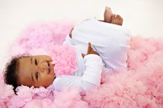 Newborn Baby Gown with Pink Vintage Rosette Collar by glamrbaby, $25.99