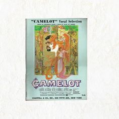 New in The Book Cottage: Camelot Movie Score | Vocal Selection Book  1960s Vintage Music Song Collection | With Richard Harris & Vanessa Redgrave | Blue 60s Cinema by TheBookCottage