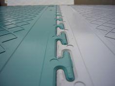 PVC Werkstattboden Typ Industrie ECO 7/500 Unterseite mit Verzahnung
