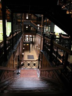 The Steampunk Home: February 2008 - The Bradbury Building in LA was the set for J.F. Sebastian's home in Bladerunner, and even though Bladerunner is seminal cyberpunk, there's some definite post-apocalyptic Victorian industrial style here.