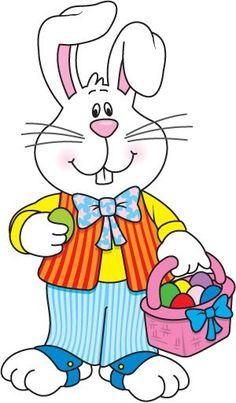 Conejo de Pascua hd. Dibujos de primavera