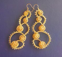 Handmade earrings tatting от TkachenkoOksana на Etsy