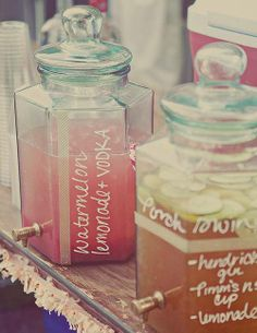 Love the idea of using window markers to state the ingredients of the punch/sangria/etc.