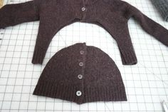Simple way to make a cute new hat out of an old sweater.