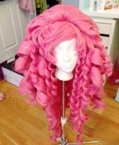 We've gotten a ton of questions about how I made Cjgren's giant Rose Quartz wig, so in this post ...