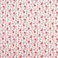 Roses and Stripes Cotton Pink 112cm