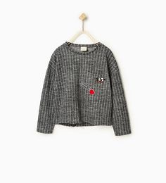 Pinstripe plush sweater