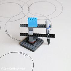 LEGO Building Challenge: Machines + Paper - Frugal Fun For Boys and Girls Lego Minecraft, Lego Moc, Lego Duplo, Lego Technic, Lego Mindstorms, Lego Club, Lego For Kids, Toys For Boys, Lego Batman