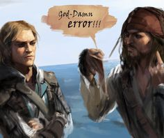 Finally one with Edward Kenway and captain Jack Sparrow (by ert0412)
