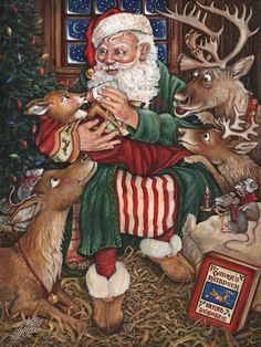 """Santa's New Arrival""  ...  by Gloria West"