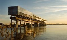Kraanspoor Office Building Hovers Above Repurposed Craneway in Amsterdam Harbor | Inhabitat - Sustainable Design Innovation, Eco Architectur...
