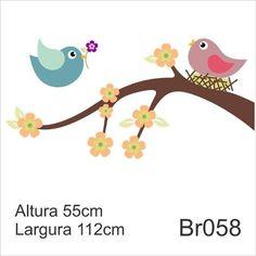 passarinho rosa desenho no galho - Pesquisa Google