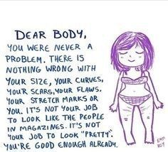 20 Rad Body Image Quotes To Inspire All The Feels - Body Positivity - Love Your Body Quotes, Body Image Quotes, Body Positive Quotes, Positive Body Image, Love My Body, Self Love Quotes, Be Yourself Quotes, Quotes To Live By, Inspire Quotes