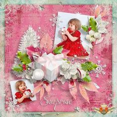 Pink Christmas templates for girls with gift boxes snowflakes and flowers