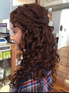 Down Curly Hairstyles, Hairdos For Short Hair, Long Curly Hair, Wedding Hairstyles, Braid Hairstyles, Curly Bridesmaid Hairstyles, Curly Short, Wedding Hair Half, Wedding Hair And Makeup