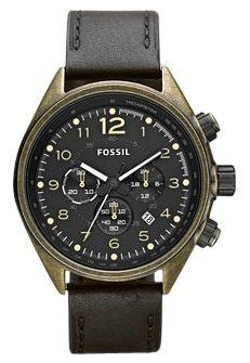 Fossil Flight Leather Watch - Black CH2783