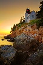 Bass Harbor Lighthouse, Acadia National Park.  A little difficult to get to, but the sunsets are SPECTACULAR!
