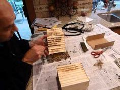 How to open mason bee wood trays. The directions are simple to follow, and help the mason bee raiser know how to easily open, clean out, and then put back together the wood trays after fall cocoon harvesting.