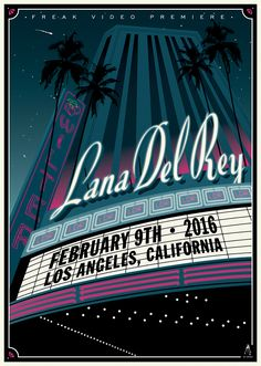 Lana Del Rey - The Wiltern - February, 2016 Lana Del Rey Video, Lana Del Rey Lyrics, Lana Del Ray, Poster Wall, Poster Prints, Band Posters, Music Posters, Photo Wall Collage, Picture Wall