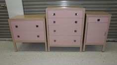 Pink Norman Bel Geddes cabinets