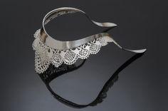 Fallen Lace Torque - Sharon Helgans 2007  sterling silver
