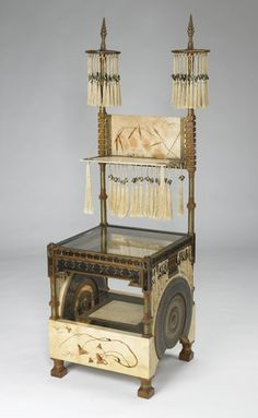 omgthatartifact:    Chair  Carlo Bugatti, 1885-1890  The Minneapolis Institute of Art  #GISSLER #interiordesign