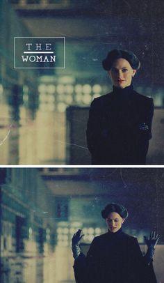 Sherlock Irene Adler A little black dress, long gloves, black cape