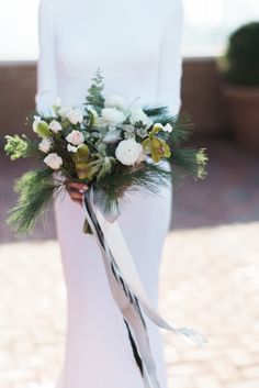 Boho chic wedding bouquet: A Classic New York City Wedding at The Bowery Hotel