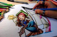 jack sparrow cartoon drawing - Google zoeken