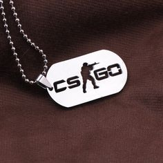 Games CS GO Stainless Steel Link Necklace For Men CSGO Anime Neckless Male Collier Homme Best Friends Statement Bijoux Jewelry -- Read more at the image link. Diamond Initial Necklace, Diamond Choker, Emerald Necklace, Diamond Solitaire Necklace, Letter Necklace, Men Necklace, Fashion Necklace, Pendant Necklace, Body Necklace