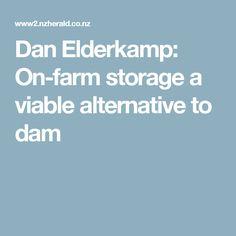 Dan Elderkamp: On-farm storage a viable alternative to dam