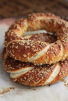 How to Make Simit, Turkish Bread Rings by kunitsa, via Flickr