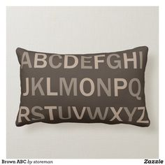 Brown ABC Lumbar Pillow Lumbar Pillow, Bed Pillows, Brown Cushions, Succulents Diy, Where The Heart Is, Decorative Cushions, Custom Pillows, The Neighbourhood, Pillows